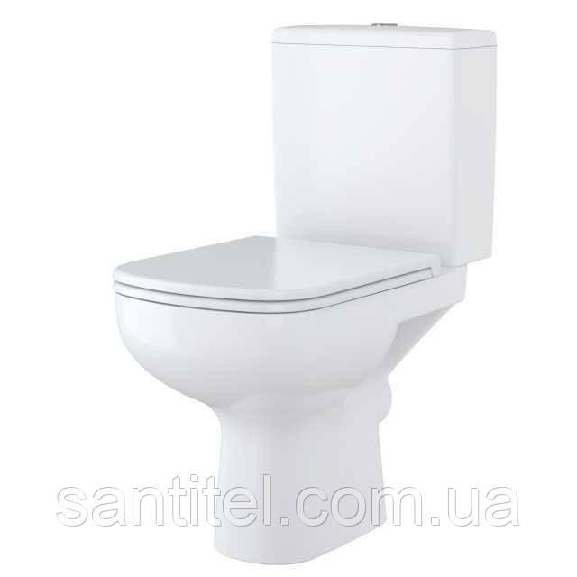 Компакт Cersanit 575 COLOUR NEW CLEAN ON 011 3/5 с сиденьем белым дюропл лифт