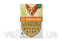 Капли на холку от блох, клещей, глистов для собак Адвокат (Advocate) весом до 4 кг