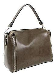 Невелика шкіряна жіноча сумка Borsacomoda коричнева