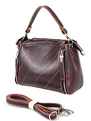 Шкіряна жіноча сумка Borsacomoda бордова