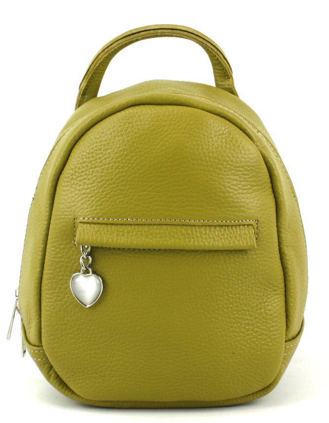 Шкіряний рюкзак жіночий Borsacomoda 3 л салатовий 835.015