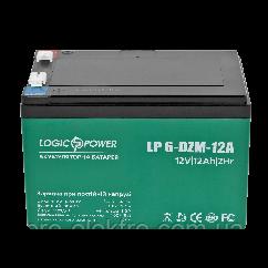 Тяговий свинцево-кислотний акумулятор LP 6-DZM-12 Ah - під Болт М5 (2020)
