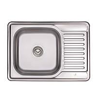 Кухонна мийка Lidz 6950 Micro Decor 0,8 мм (LIDZ6350MDEC), фото 1
