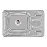 Кухонна мийка Lidz 6642 Micro Decor 0,8 мм (LIDZ664208MICDEC), фото 1