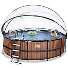 Бассейн с куполом EXIT дерево 450х122 см (песочный фильтр), фото 3