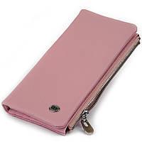 Вертикальний гаманець на кнопці жіночий ST Leather 19201 Рожевий, фото 1