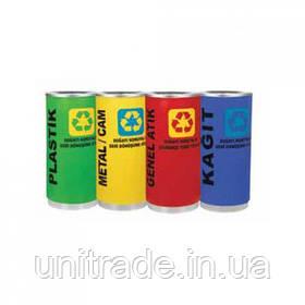 Кошик для сміття 100л (жовтий,зелений,червоний,синій)