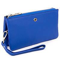 Місткий клатч з двох частин жіночий ST Leather 19252 Синій, фото 1