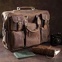 Сумка мужская многофункциональная Vintage 14881 Коричневая, фото 1