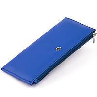 Горизонтальний тонкий гаманець зі шкіри унісекс ST Leather 19329 Синій, фото 1