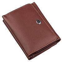 Женский кошелек с монетницей на кнопке ST Leather 18887 Коричневый, фото 1