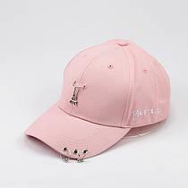 Кепка Бейсболка Женская City-A Paris Париж с кольцами Розовая