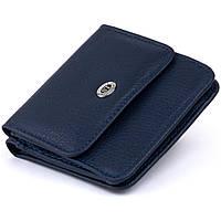 Маленький кошелек на кнопке женский ST Leather 19237 Темно-синий, фото 1