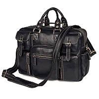 Многофункциональная сумка из натуральной кожи Vintage 14204 Черная, фото 1