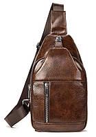 Чоловіча сумка-слінг шкіряна 20340 Vintage Коричнева, фото 1