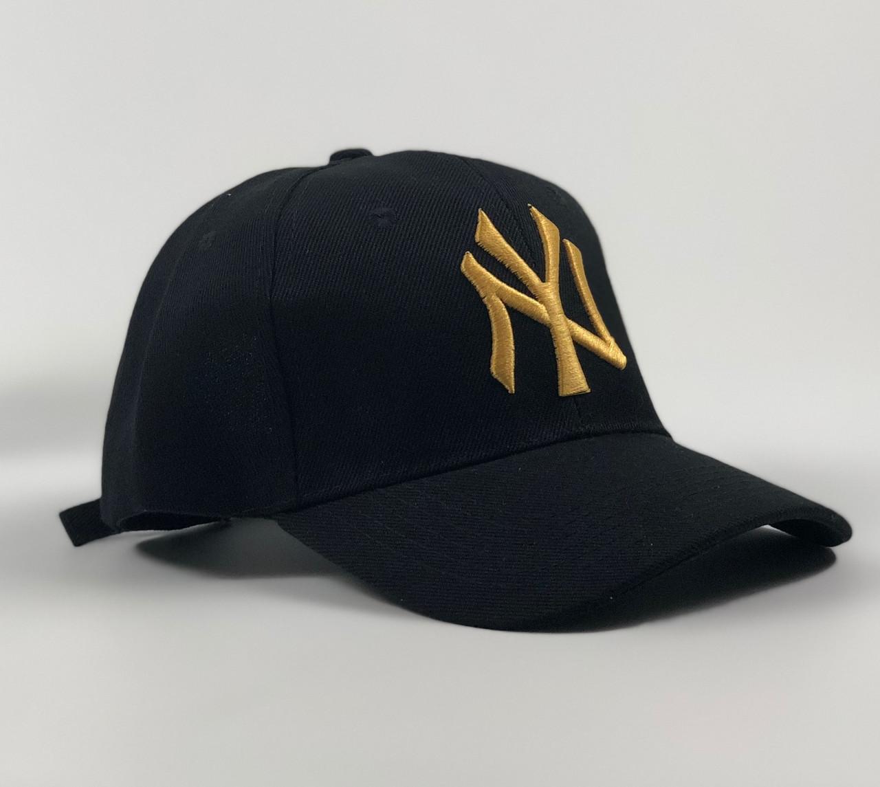 Кепка Бейсболка Чоловіча Жіноча New Era New York Yankees NY Чорна з Золотим лого
