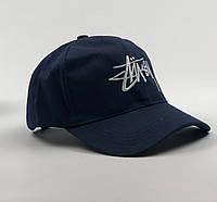 Кепка Бейсболка Чоловіча Жіноча Stussy Стусси Темно-синя, фото 1