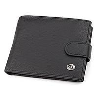 Мужской кошелек ST Leather 18328 (ST137) итальянская кожа Черный, фото 1