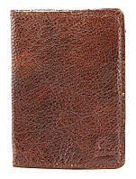 Обложка на паспорт GRANDE PELLE 00231 кожа Коричневая, фото 1