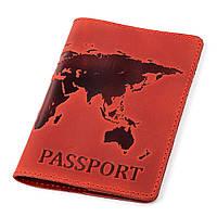 Обложка на паспорт Shvigel 13920 кожаная Красная, фото 1