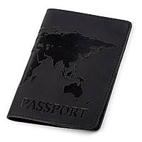 Обложка на паспорт Shvigel 13921 кожаная Черная, фото 1