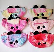 Дитяча сумка бананка | сумка для дівчинки Panda Панда | Сумка на пояс різнобарвна підморгує |
