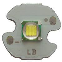 ЛЕД светодиод CREE T-6: яркость 280 Люмен, 2Вт, диаметр платы 16мм