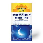 Комплекс для Здорового Сна, Stress Shield, Country Life, 60 вегетарианских капсул