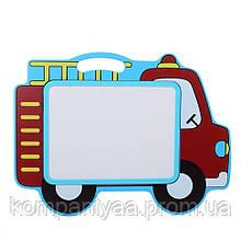 Детская деревянная магнитная Досточка для рисования маркером MD 2085 (Машинка)