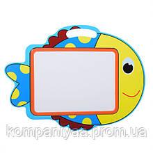 Дитяча дерев'яна магнітна Досточка для малювання маркером MD 2085 (Рибка)