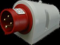 Штепсель настенный IPN (IP 44), 16A, 400V, 4 полюса