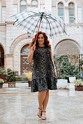 Жіноче леопардове плаття Батал