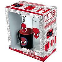 Подарунковий набір MARVEL Spider-man склянка, брелок, міні чашка