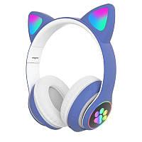Беспроводные детские наушники Cat Paws STN28 (Голубой)