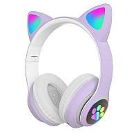 Беспроводные детские наушники Cat Paws STN28 (Фиолетовый)