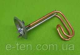 Тэн медный для бойлеров Ferroli 1500W / 220V / фланец Ø92мм / Lдлина=180мм (с трубкой под термостаты)