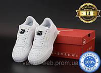 Белые кроссовки Puma Cali White (Пума Кали белые кожаные) женские и мужские размеры: 36-45