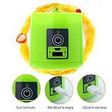 Портативный фитнес блендер USB Smart Juice Cup Fruits 4 ножа rose, фото 6