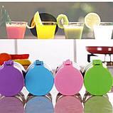 Портативный фитнес блендер USB Smart Juice Cup Fruits 4 ножа blue, фото 4