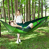 Туристический гамак таканевый с москитной сеткой Travel hammock net, фото 3