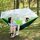 Туристический гамак таканевый с москитной сеткой Travel hammock net, фото 4
