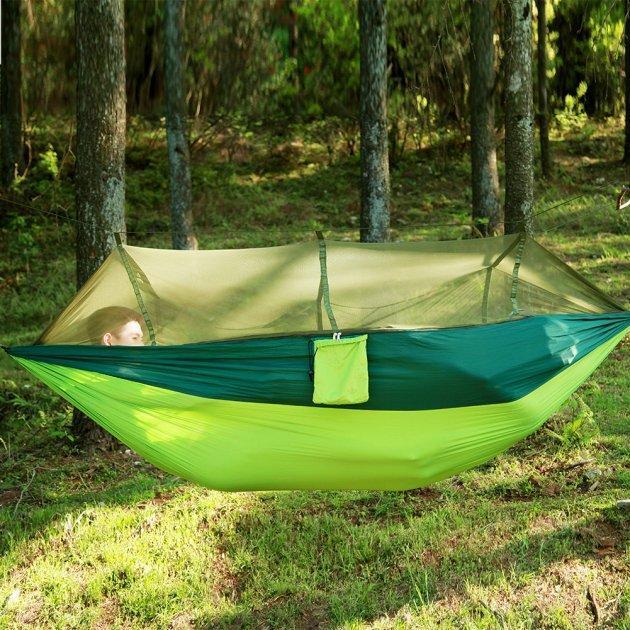 Туристичний гамак таканевый з москітною сіткою Travel hammock net