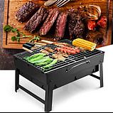 Складаний барбекю гриль BBQ Grill портативний мангал, BBQ Grill Portable – жароміцний з нержавіючої сталі, фото 2