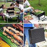 Складной барбекю гриль BBQ Grill портативный мангал, BBQ Grill Portable – жаропрочный из нержавеющей стали, фото 4