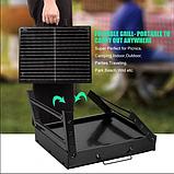 Складаний барбекю гриль BBQ Grill портативний мангал, BBQ Grill Portable – жароміцний з нержавіючої сталі, фото 5