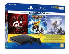 Консоль Sony PlayStation 4 1Tb (3 игры + подписка) (9702191)