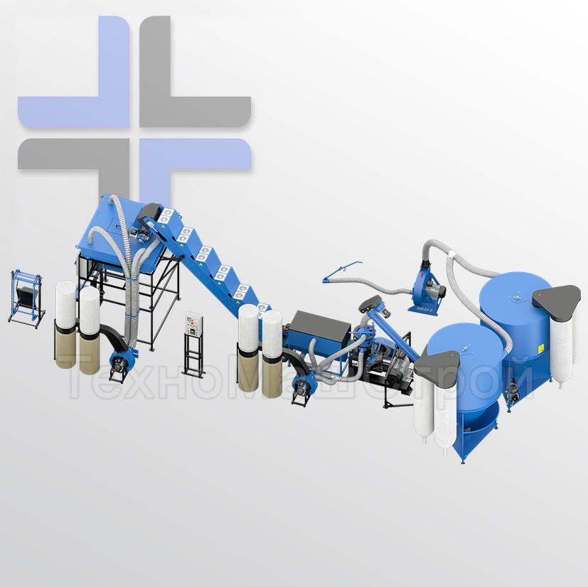 Завод (лінія) для виробництва комбікорму, безперервний цикл від Подрібнювача до упаковки