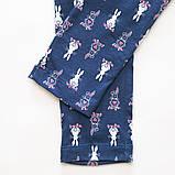 Лосины детские для девочки трикотажные SmileTime Bunnie, темно-синие, фото 3