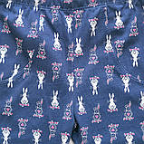 Лосины детские для девочки трикотажные SmileTime Bunnie, темно-синие, фото 4