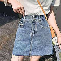 """Спідниця жіноча джинсова на блискавці, розмір S-L (2 цв) """"MILANA"""" купити недорого від прямого постачальника"""